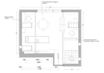 Interiørarkitektur skisse