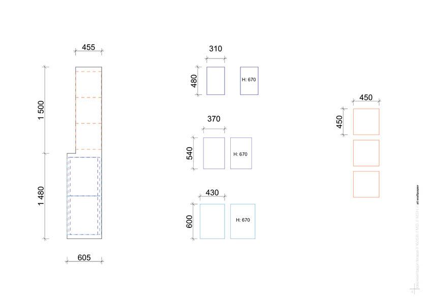 Planskisse fra møbeldesign til terrasse